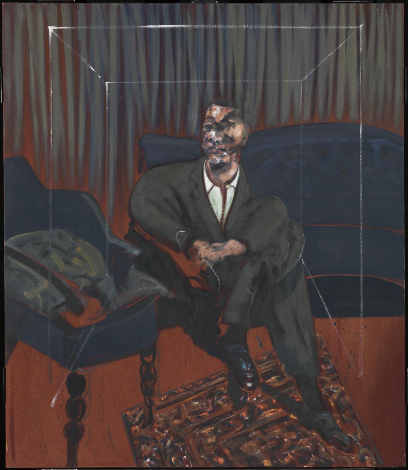 Applying Perspective Example: Francis Bacon, Seated Figure, oil on canvas, 1651 x 1422 mm, curtesy of Tate
