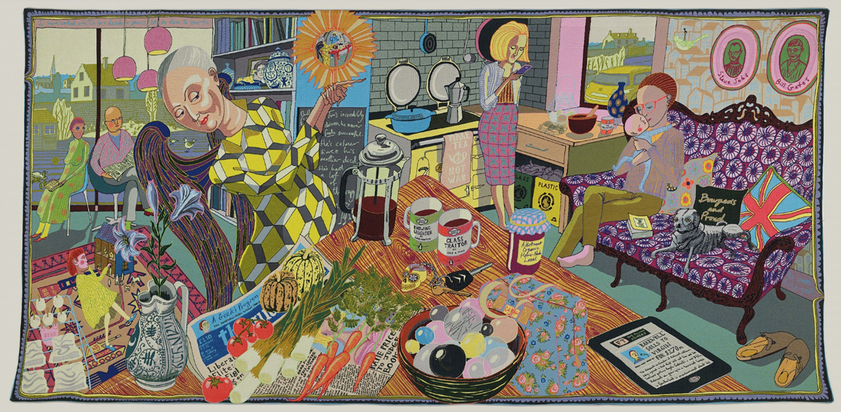 Applying Perspective Example- Grayson Perry, The Annunciation of the Virgin Deal, tapestry, 200 x 400cm, curtesy of Wiki Commons