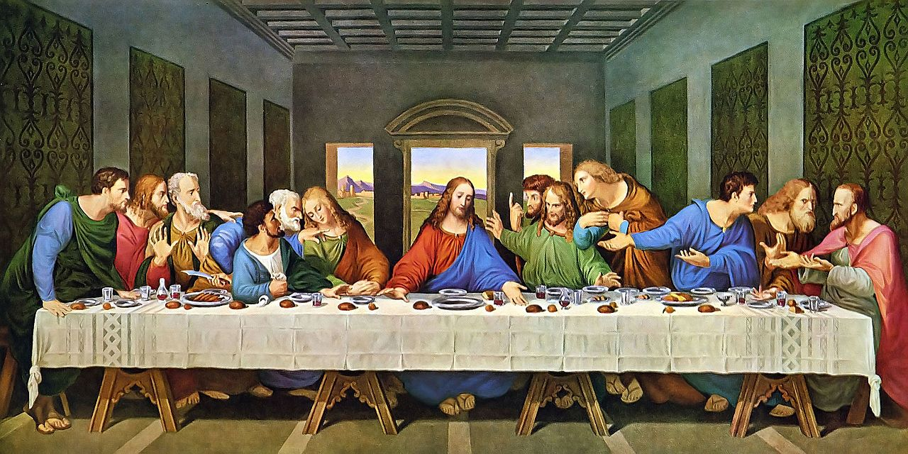 One Point Perspective Example- Leonardo Da Vinci, 'The Last Supper', tempera on gesso, pitch and mastic, Height- 460 cm (15 ft); Width- 880 cm (28.8 ft), image curtesy of Wiki Commons