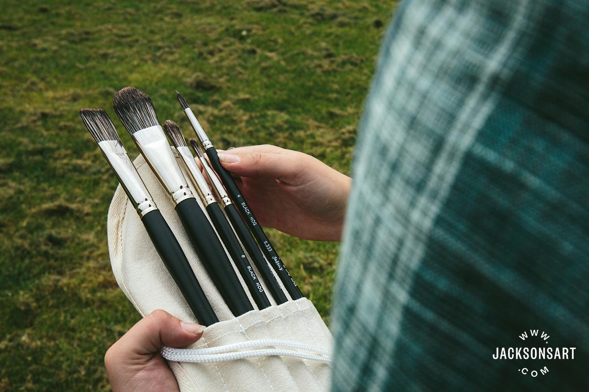 canvas brush case