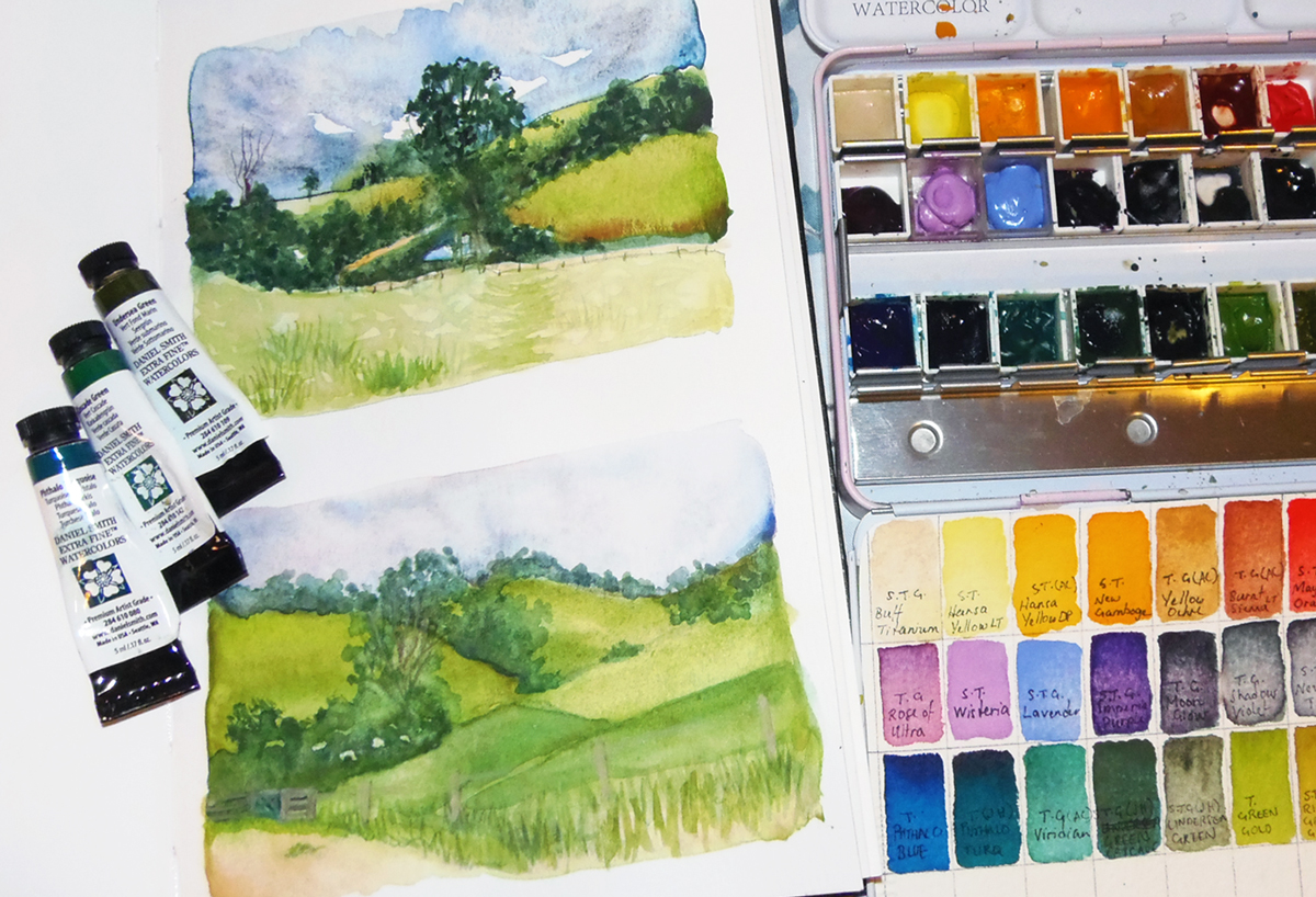 Jean Haines Green Watercolours Review Jackson S Art Blog