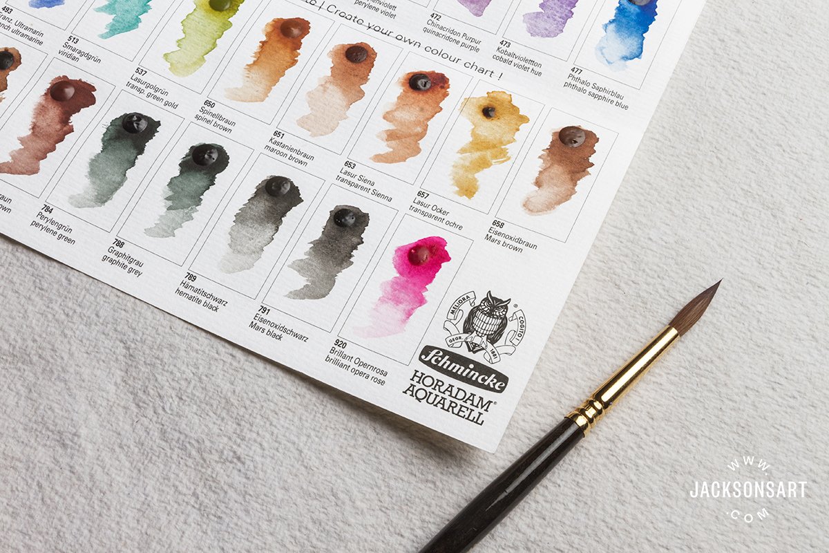 showing artist watercolour schmincke-swatches