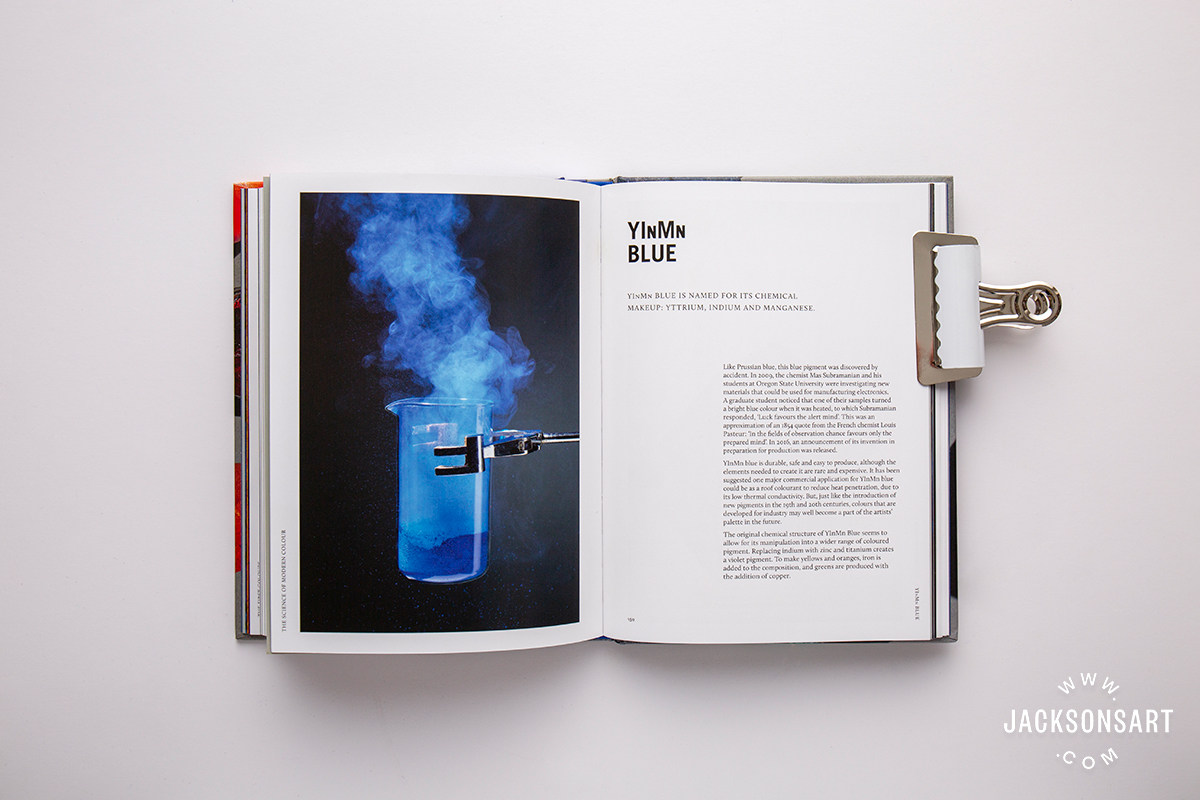 YInMn Blue pigment history page in 'The Science of Modern Colour' chapter