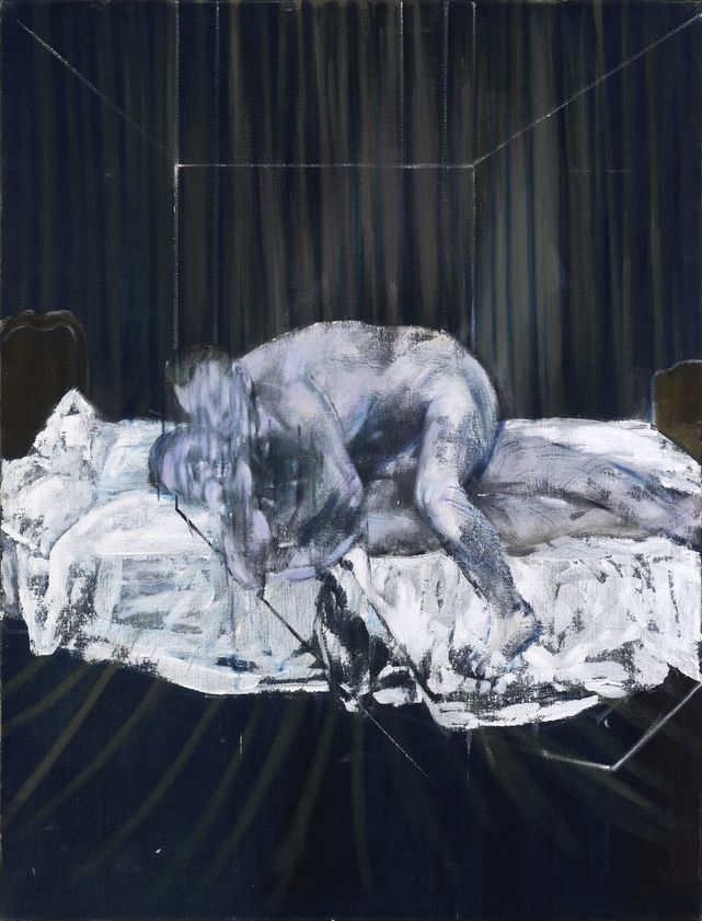 Art Exhibitions on Now - Francis Bacon, Two Figures, 1953, Oil on canvas, 152.5 x 116.5 cm