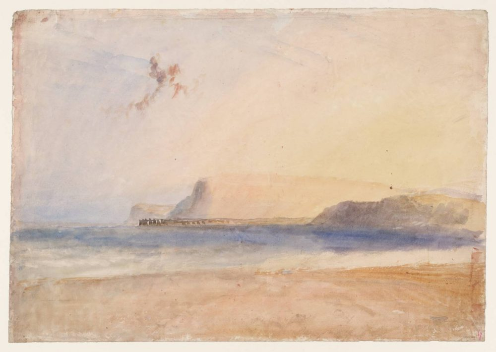 Joseph Mallord William Turner, Bridport (West Bay), Dorset, c. 1828, Watercolour and graphite on paper, 342 x 489 mm - Art Exhibition on Now in July