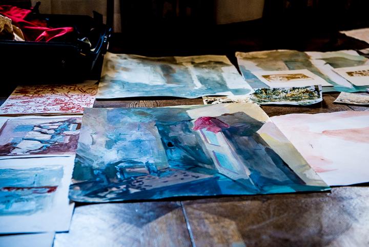 Studies on paper by Tim Patrick (photo by Simon Richards)