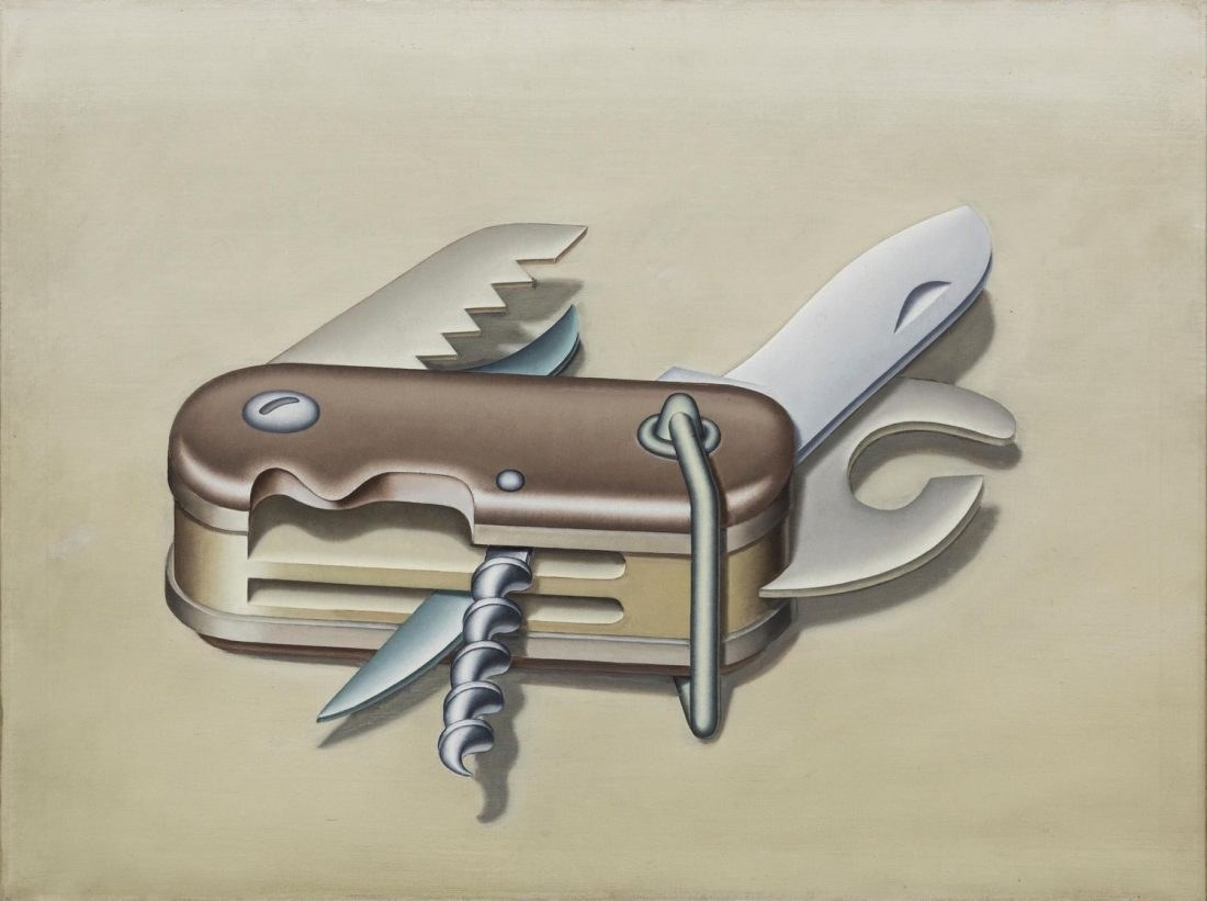 Art Exhibitions on in July - Konrad Klapheck, Der Misanthrop, 1973, Oil on canvas, 60 x 80 cm