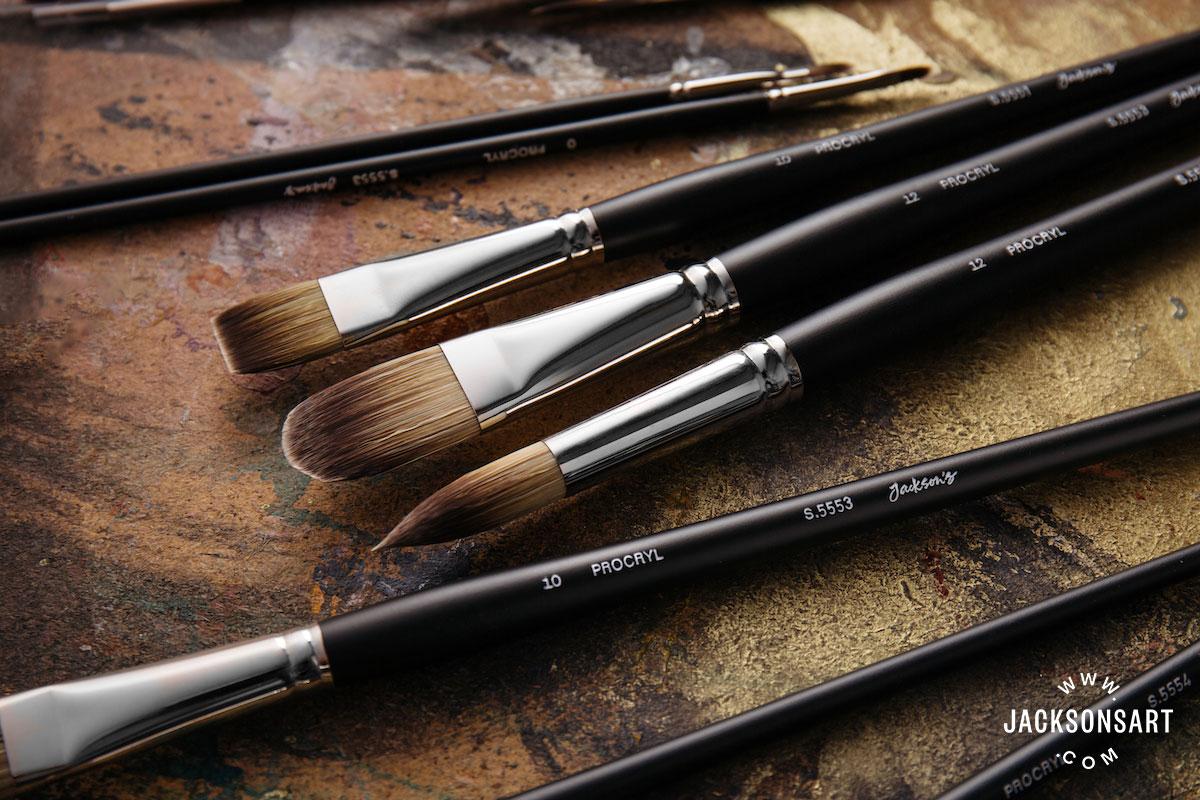 Procryl Synthetic Brush Fibre Close Up