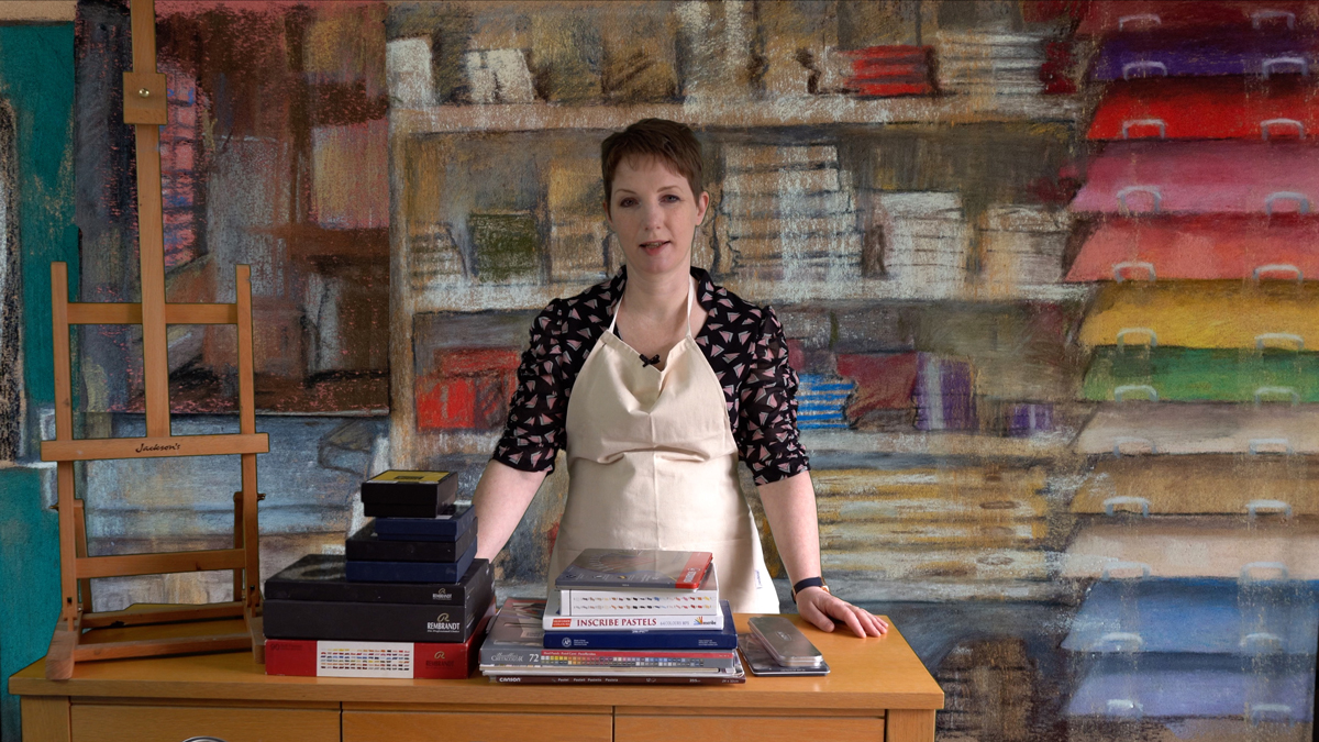 Sophie Ploeg's art store in the Pastel Place, the setting of her online pastel course