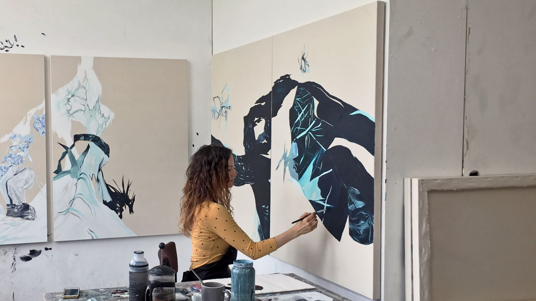 Magdalena Gluszak-Holeksa - In The Studio