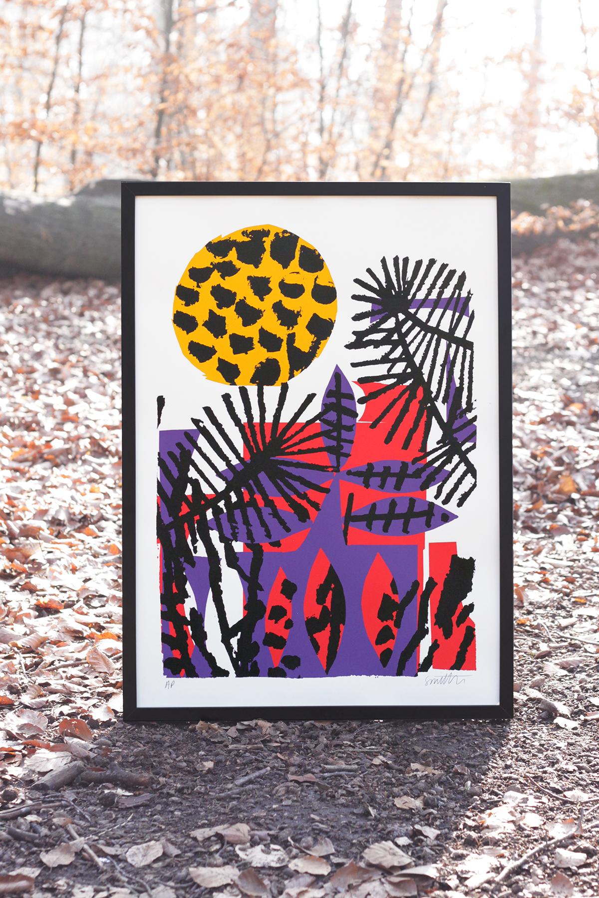 The Jaunt #49 - Stephen Smith 50cm x 70cm, 4 colour silkscreen print, 2018 http://www.thejaunt.net/printarchive/049-stephensmith