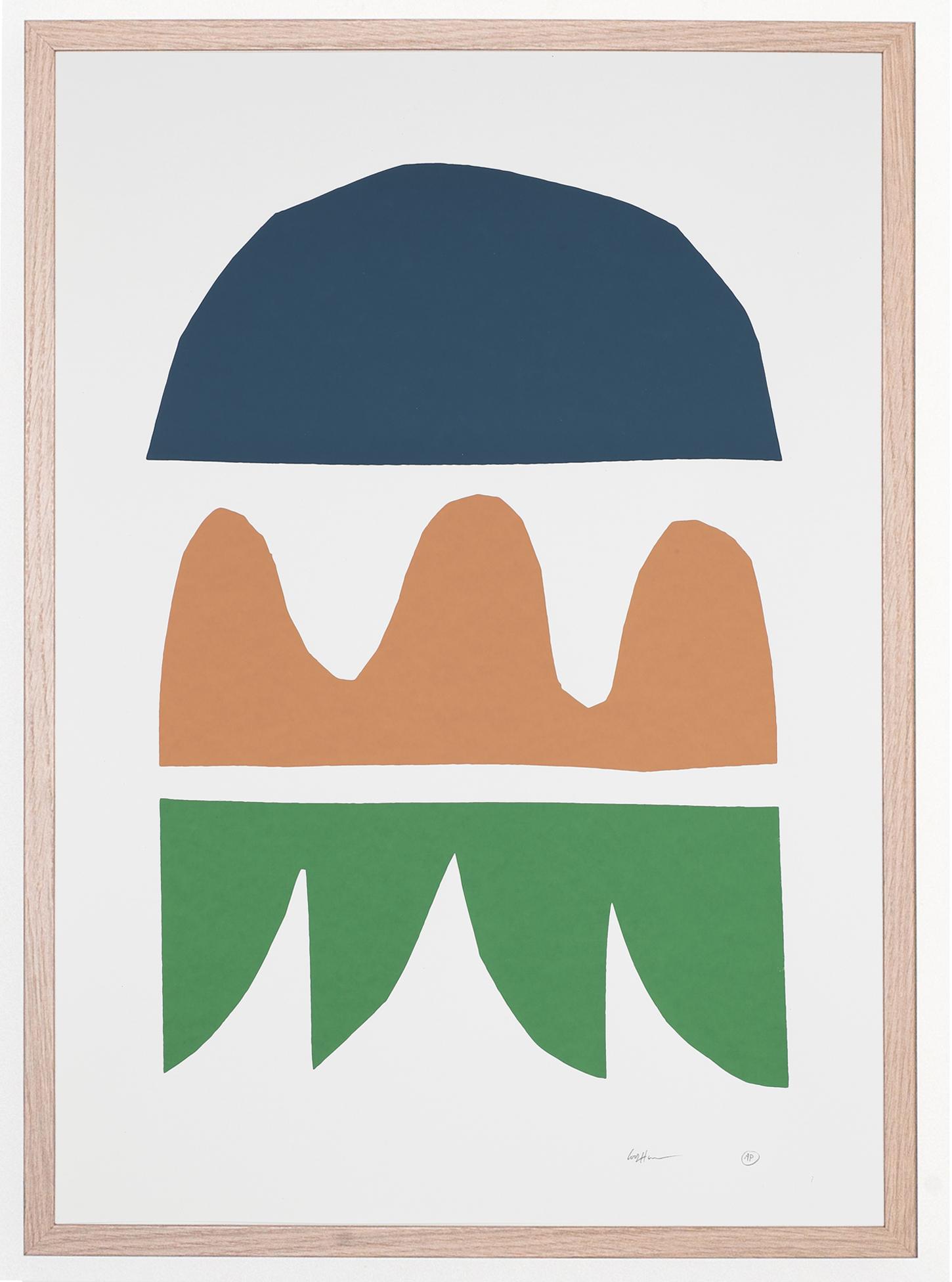 Jaunt #50 - Cody Hudson, Costa Rica November 2018 3 Colour Silkscreen Print, 50cm x 70cm