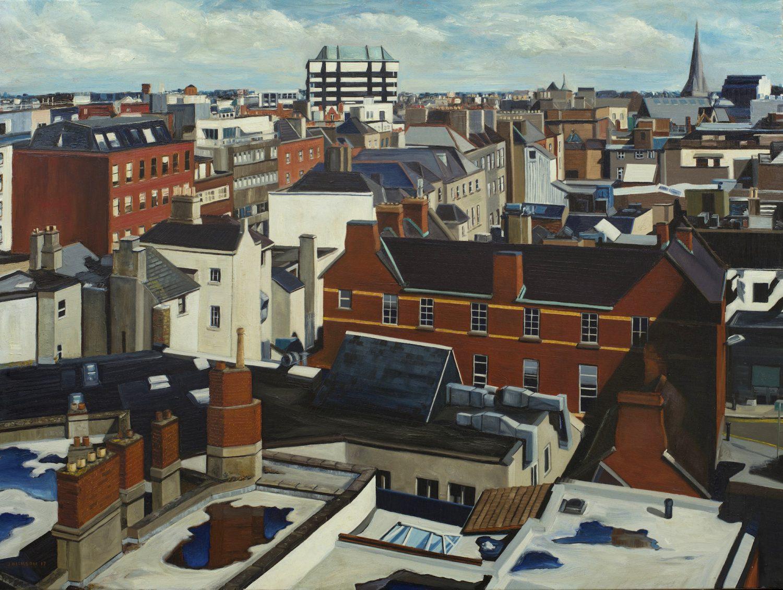 Dublin Counterpoint, 2017, Jonathan Dickson, Oil on canvas, 80 x 60 cm