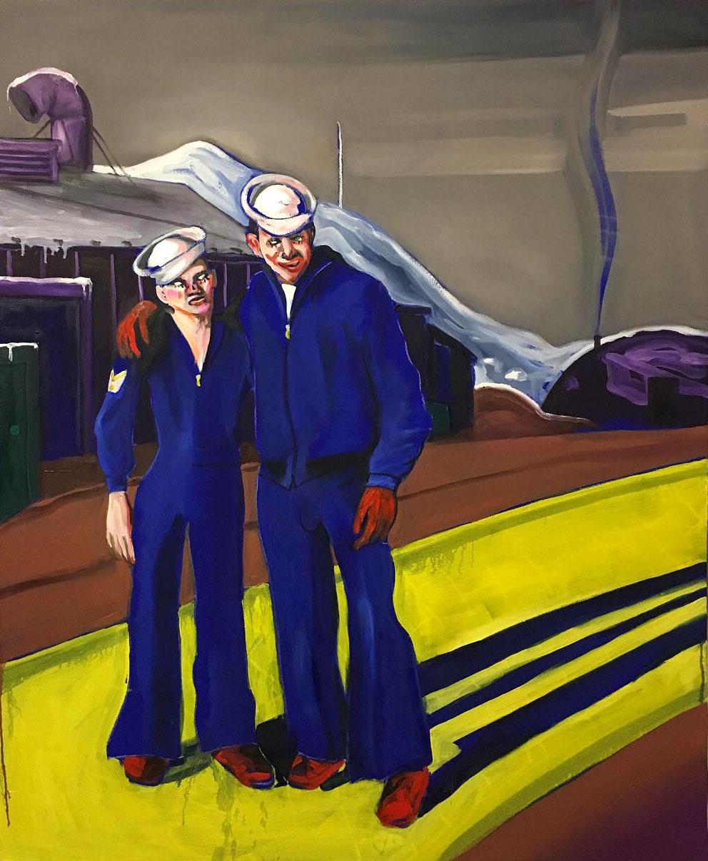 'Hello Sailor', 2019 Adam Baker Oil on canvas, 120cm x 150cm