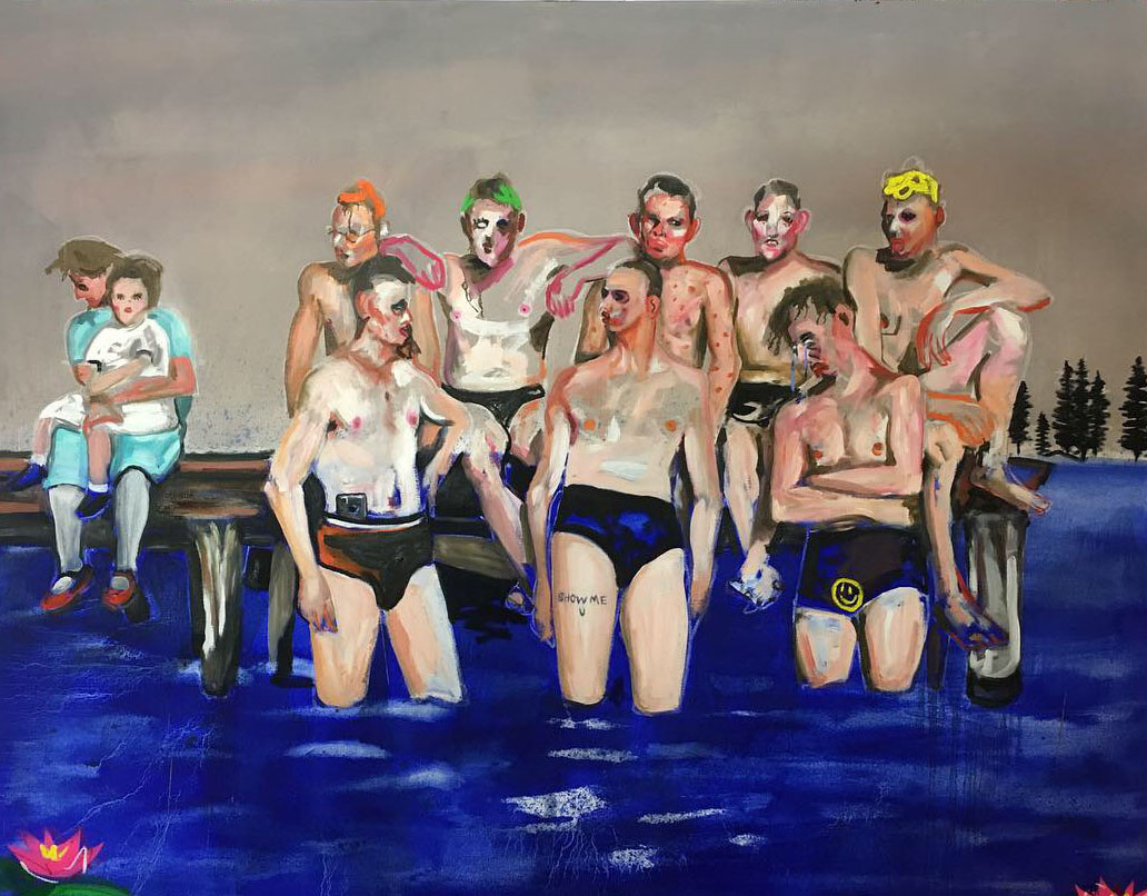 'Show Me U', 2019 Adam Baker Oil on canvas, 150cm x 180cm