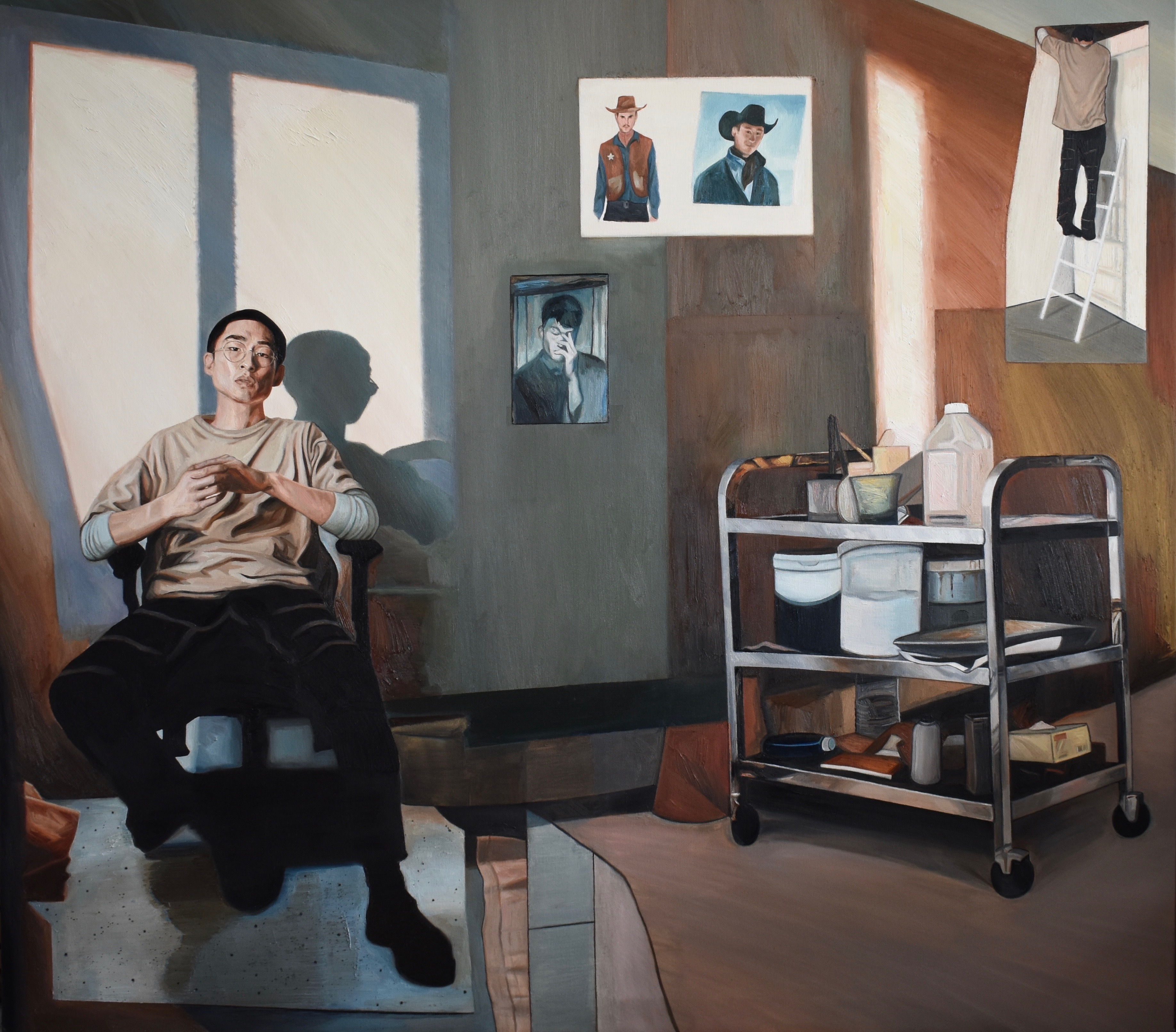 Making Pictures, 2019 William GC Brown oil on canvas, 150cm x 170cm