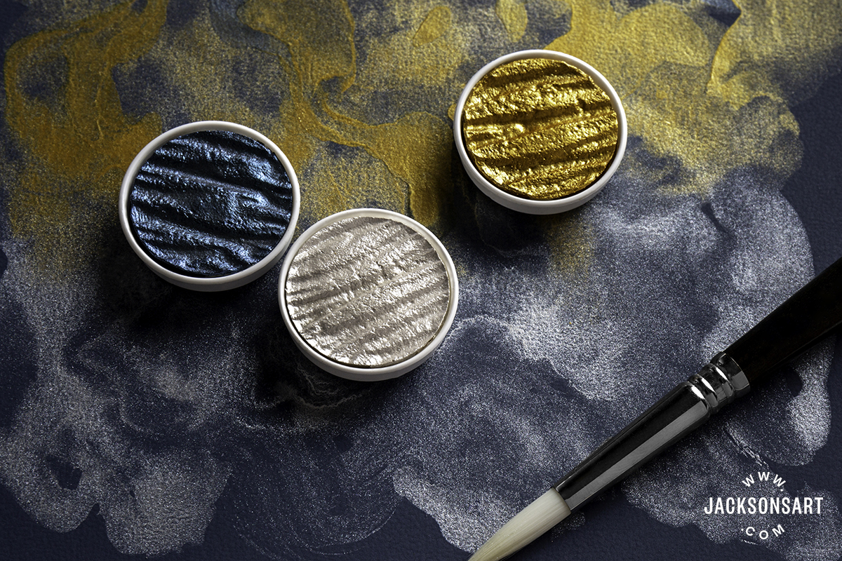 Coliro Midnight Blue, Sterling Silver and Gold Pearl Pans