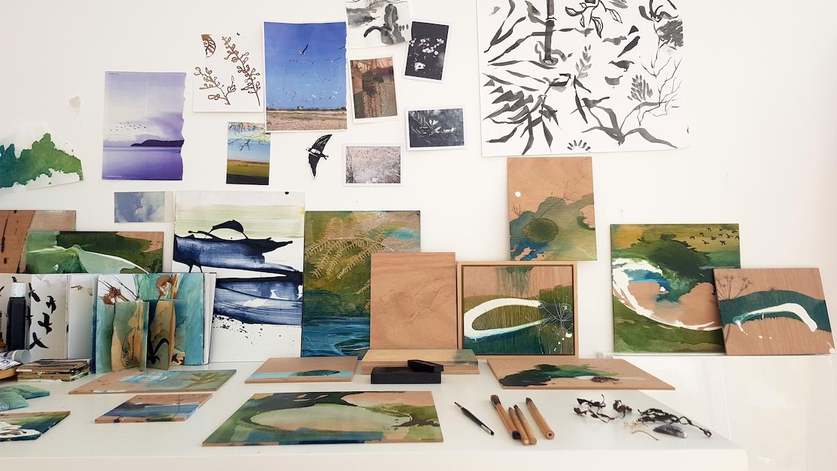 Panels on desk Tara Leaver
