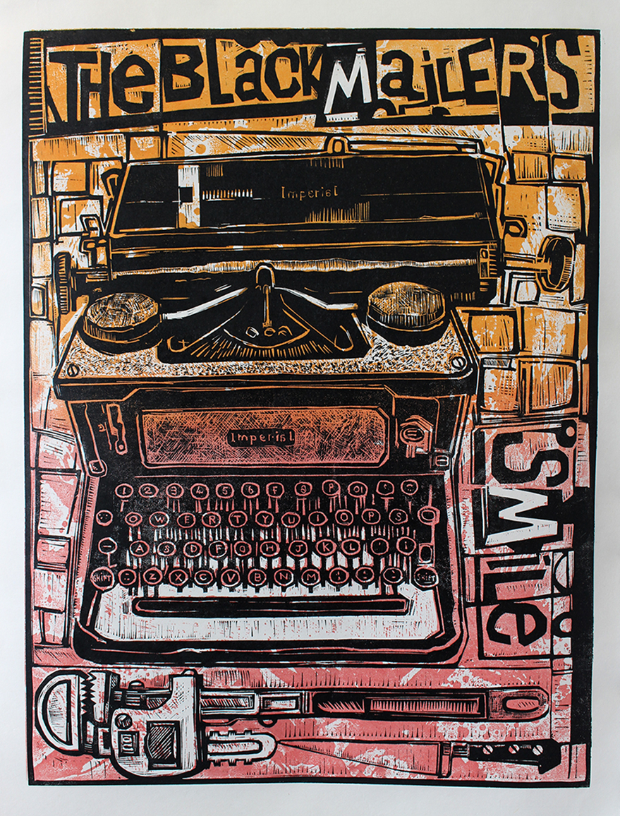 'The Blackmailer's Smile' Ian Burke Linocut and Lino Etching Print, 2019