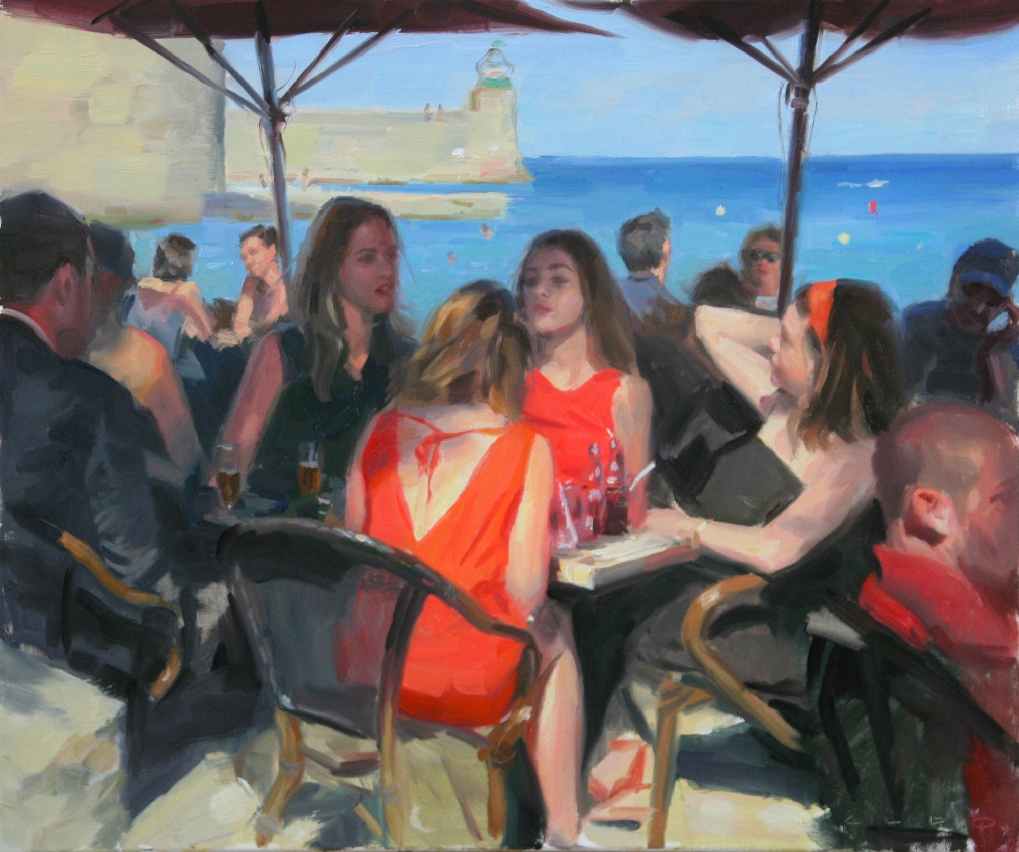 'Long Shadows of Collioure' Aldo Balding Oil on canvas, 46cm x 54cm