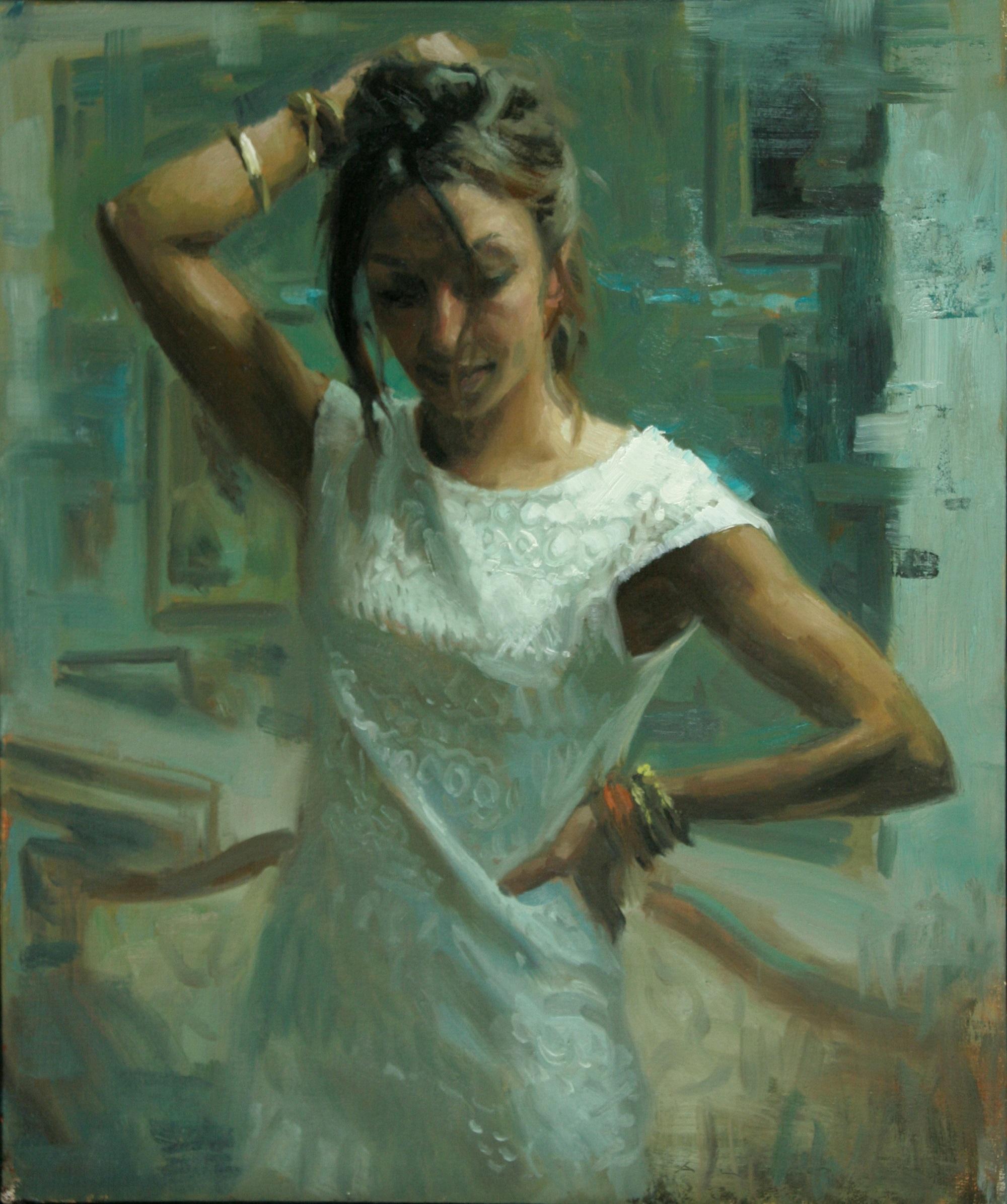 'Sabrina in Shadow' Aldo Balding Oil on canvas, 54cm x 46cm