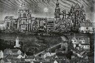 'Whitby Translated' Ian Burke and Ade Adesina Linocut print, 95cm x 130cm, 2019
