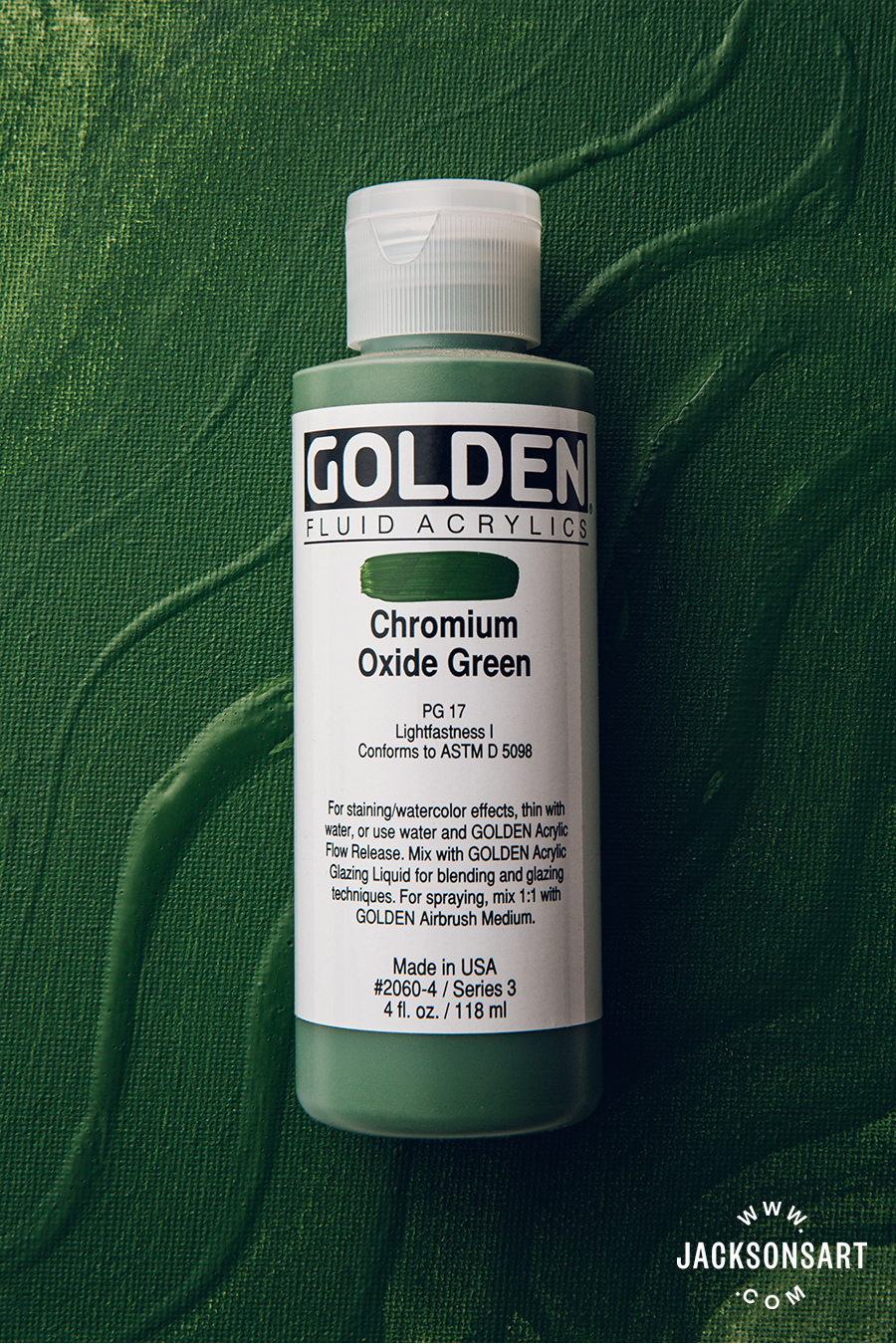 Golden Fluid Acrylic Chromium Oxide Green 118 ml