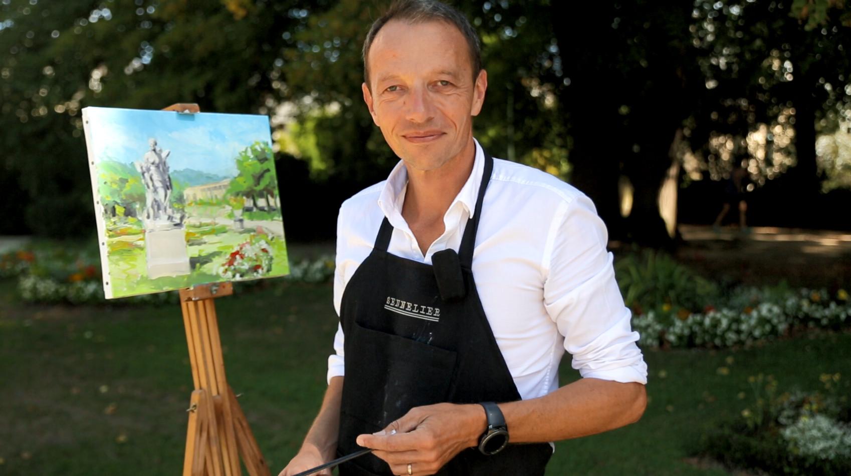 Yves-Marie painting en plein air