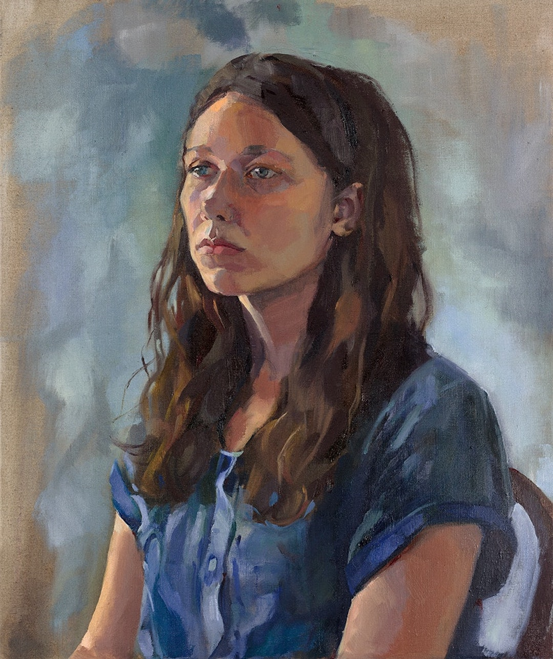 The Portrait of a Young Artist Jenny Fay Oil on Linen, 61cm x 51cm