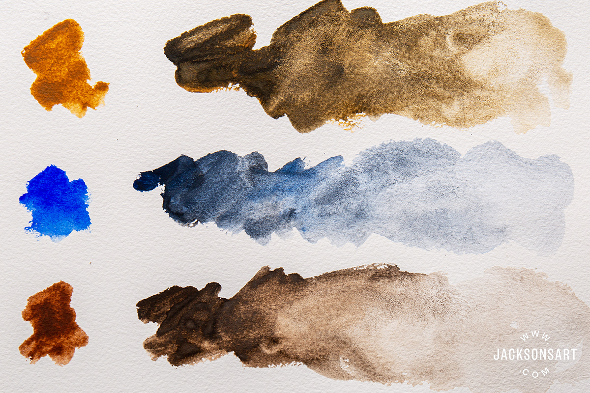 Mixing Nitram Liquid Charcoal with Jackson's Artist Watercolour paint
