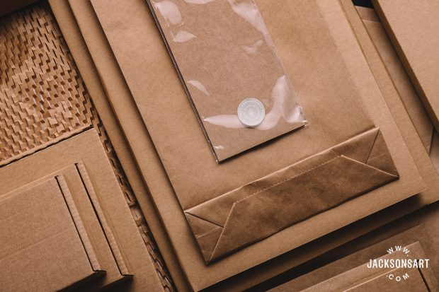 Most of our main packaging is 100% compostable as well as the paper and card being recyclable