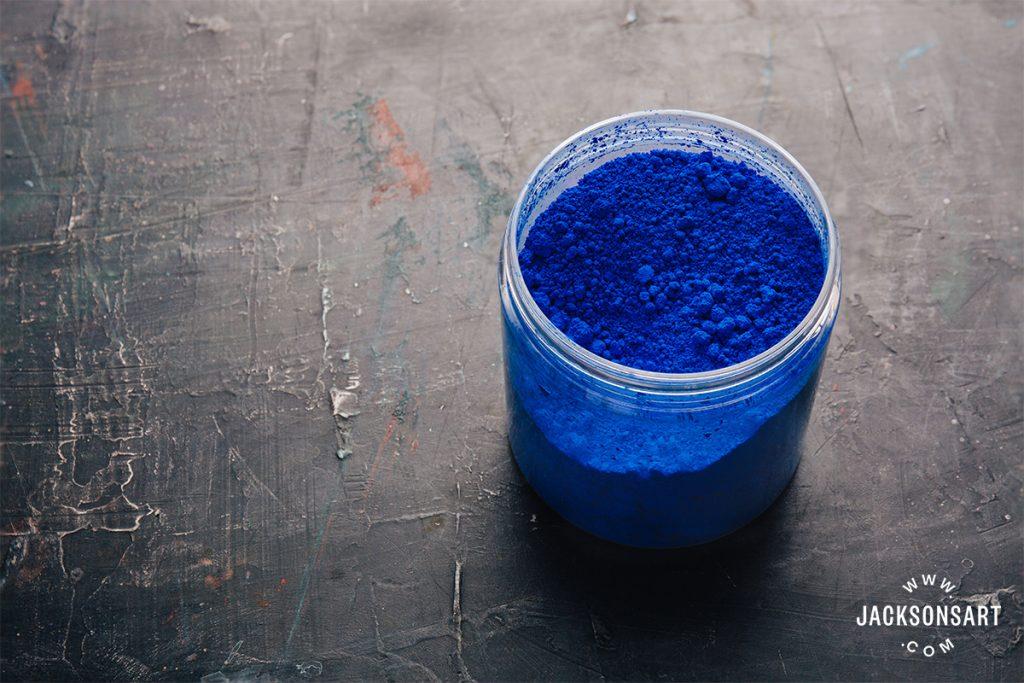 ultramarine blue dry pigment