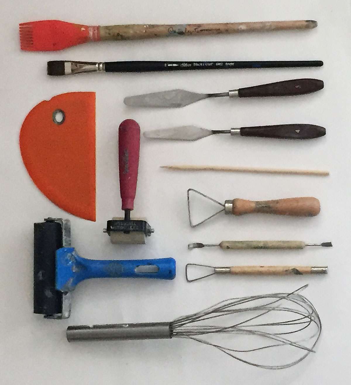 Sally Hirst cold wax tools