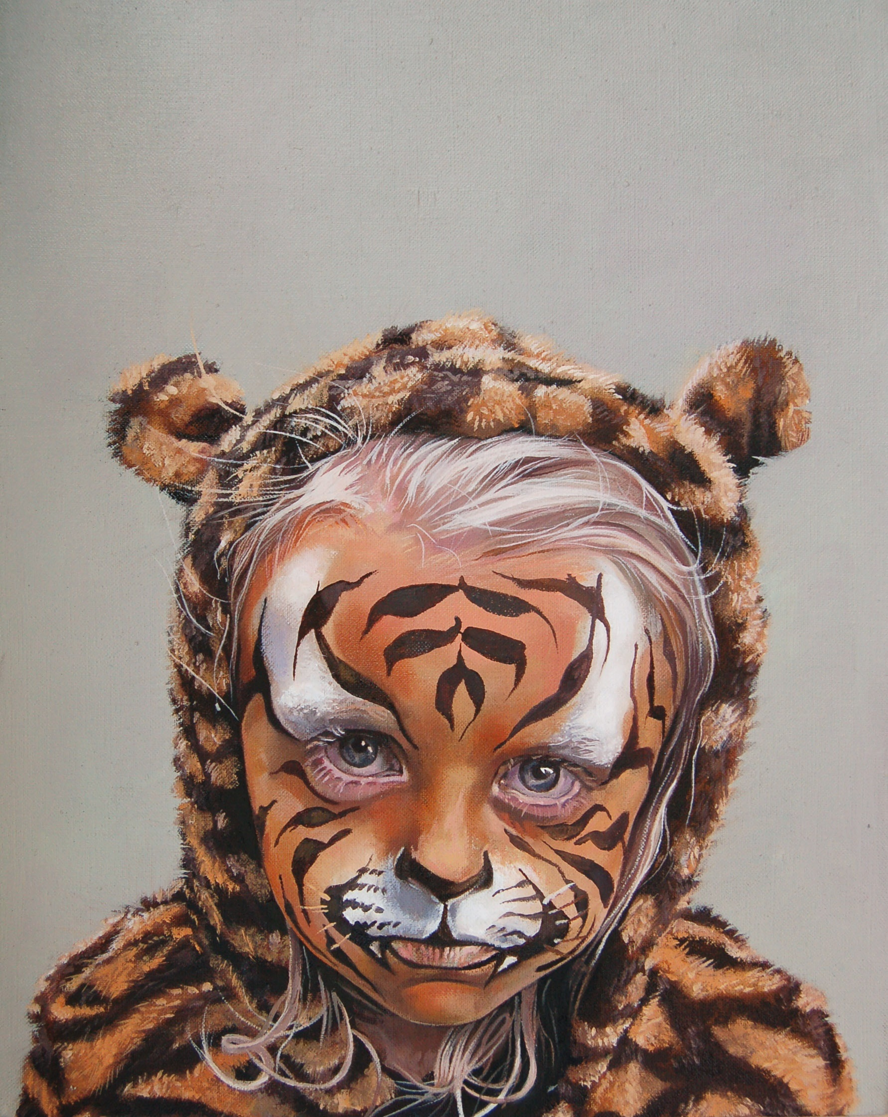 Behind the Tiger Paint Catherine MacDiarmid Oil on linen, 25 cm x 20 cm