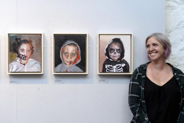 Catherine MacDiarmid at recent solo exhibition at the Brewery Arts Centre, Kendal, Cumbria