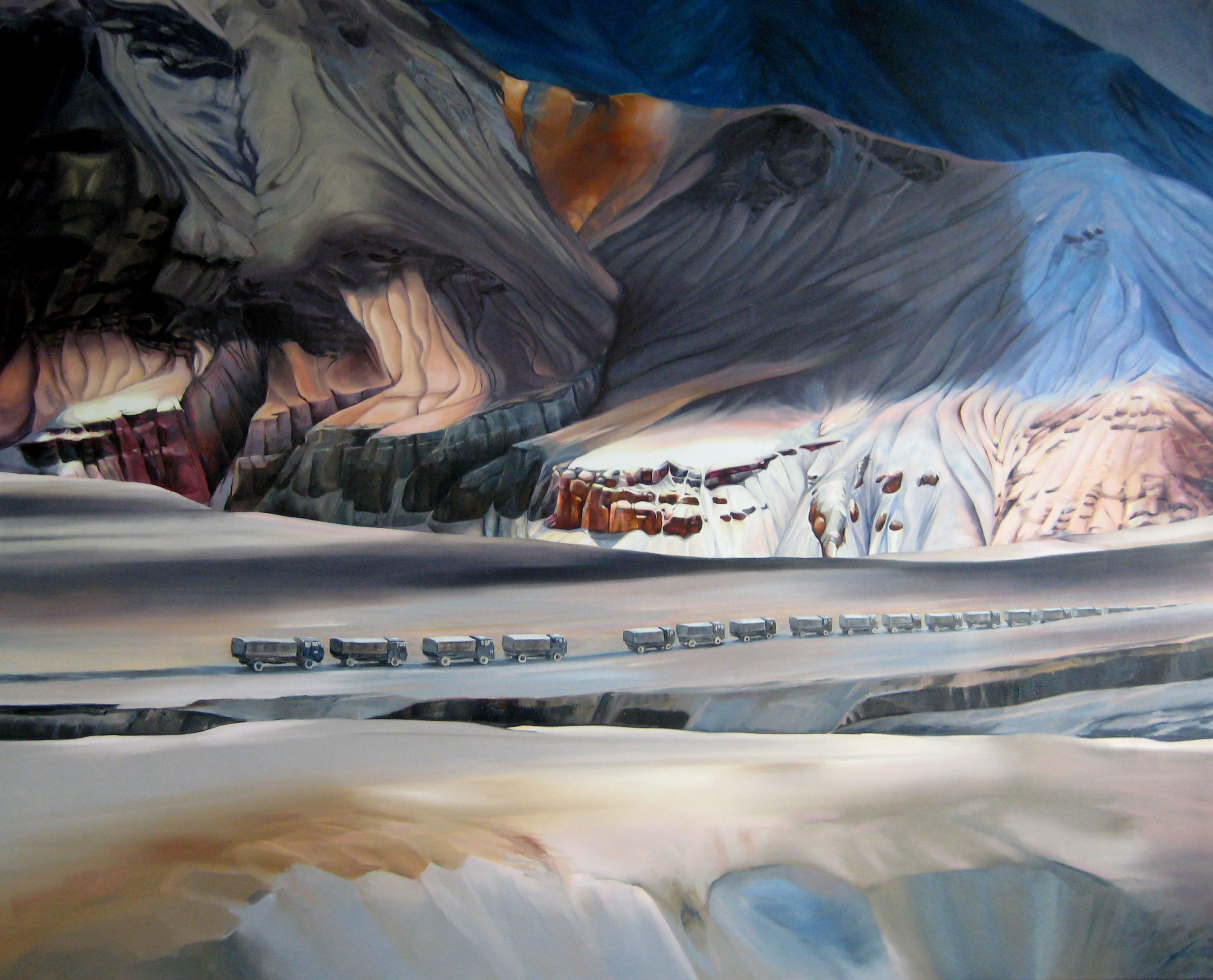 Kashmir (Passing Through) Polly Townsend Oil on Canvas, 63x51 in