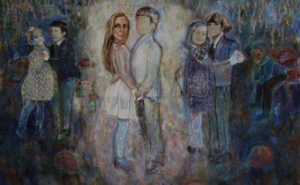 The School Dance, 2019 Jennifer Nieuwland Oil and pastel on canvas, 100 x 120 cm