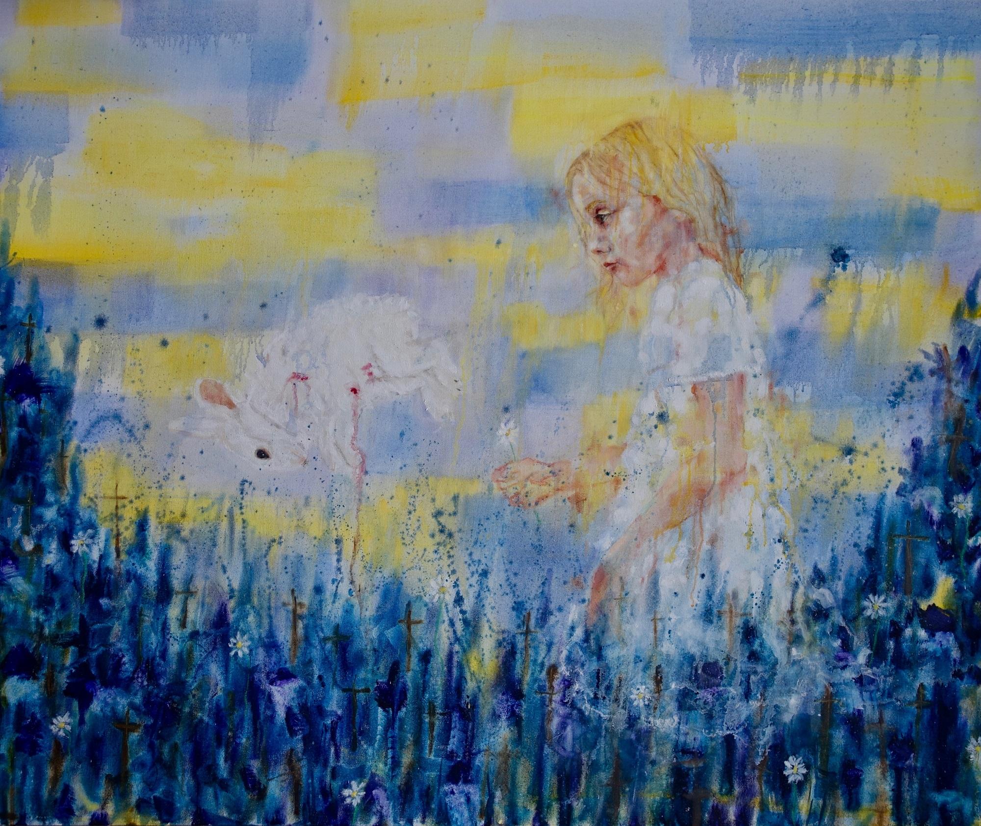 White rabbit, 2019 Jennifer Nieuwland Oil on canvas,100 x 120 cm