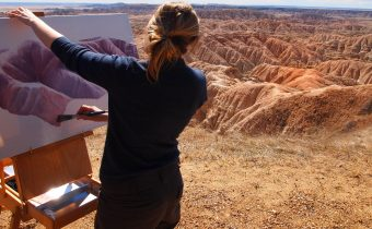 Painting in Badlands
