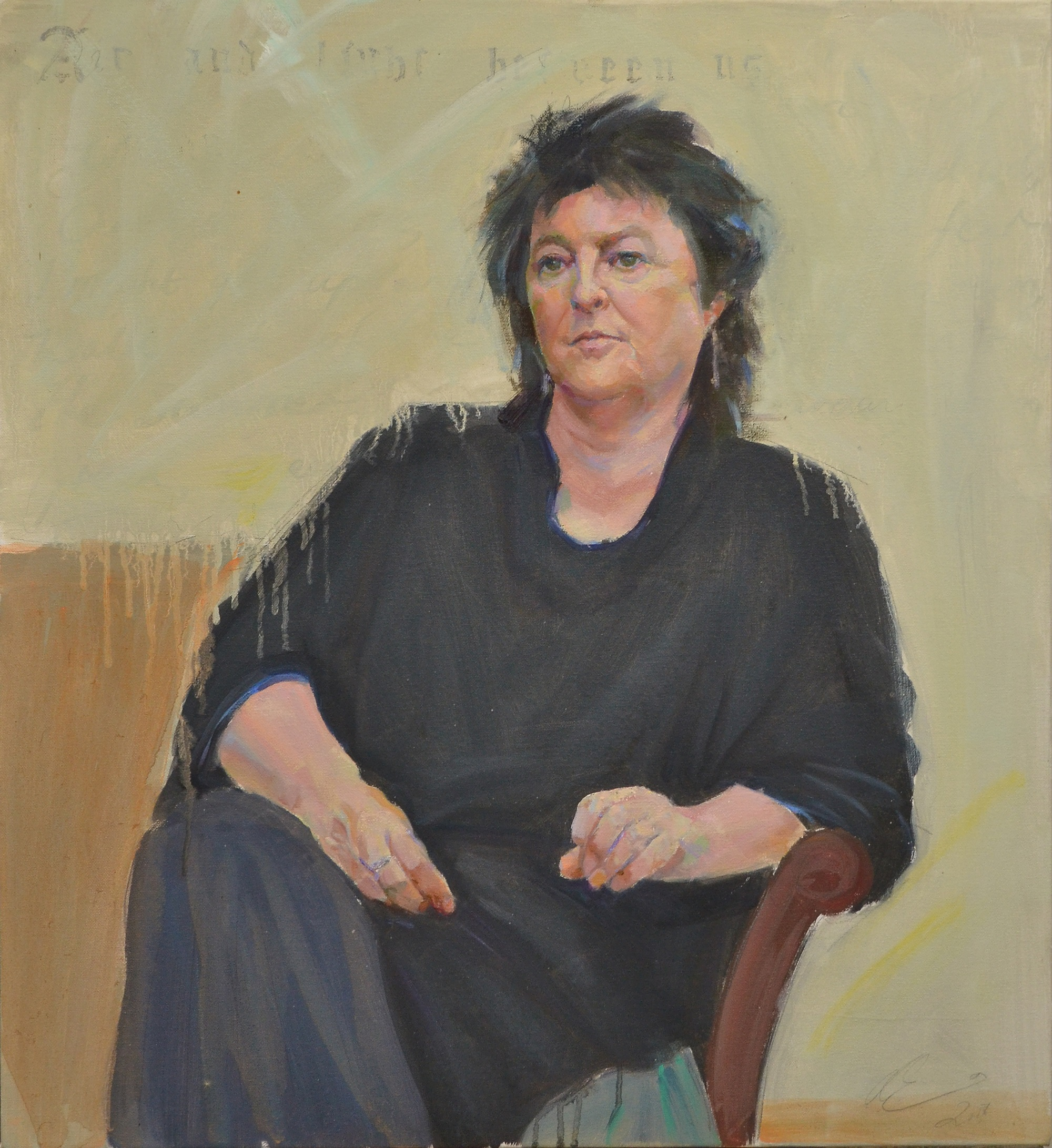 Air and Light (Carol Ann Duffy) Clae Eastgate Oil on canvas, 22 x 24 in. Acquired by the Scottish National Portrait Gallery for the permanent collection 2019.