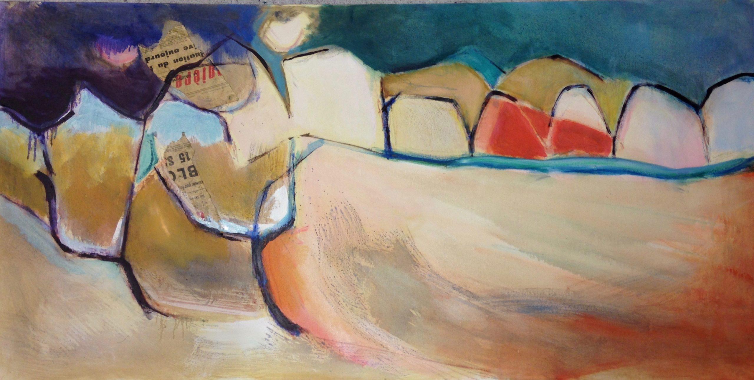 Pommiers, soir Pippa Spiers 60 x 120 cm, oil on canvas