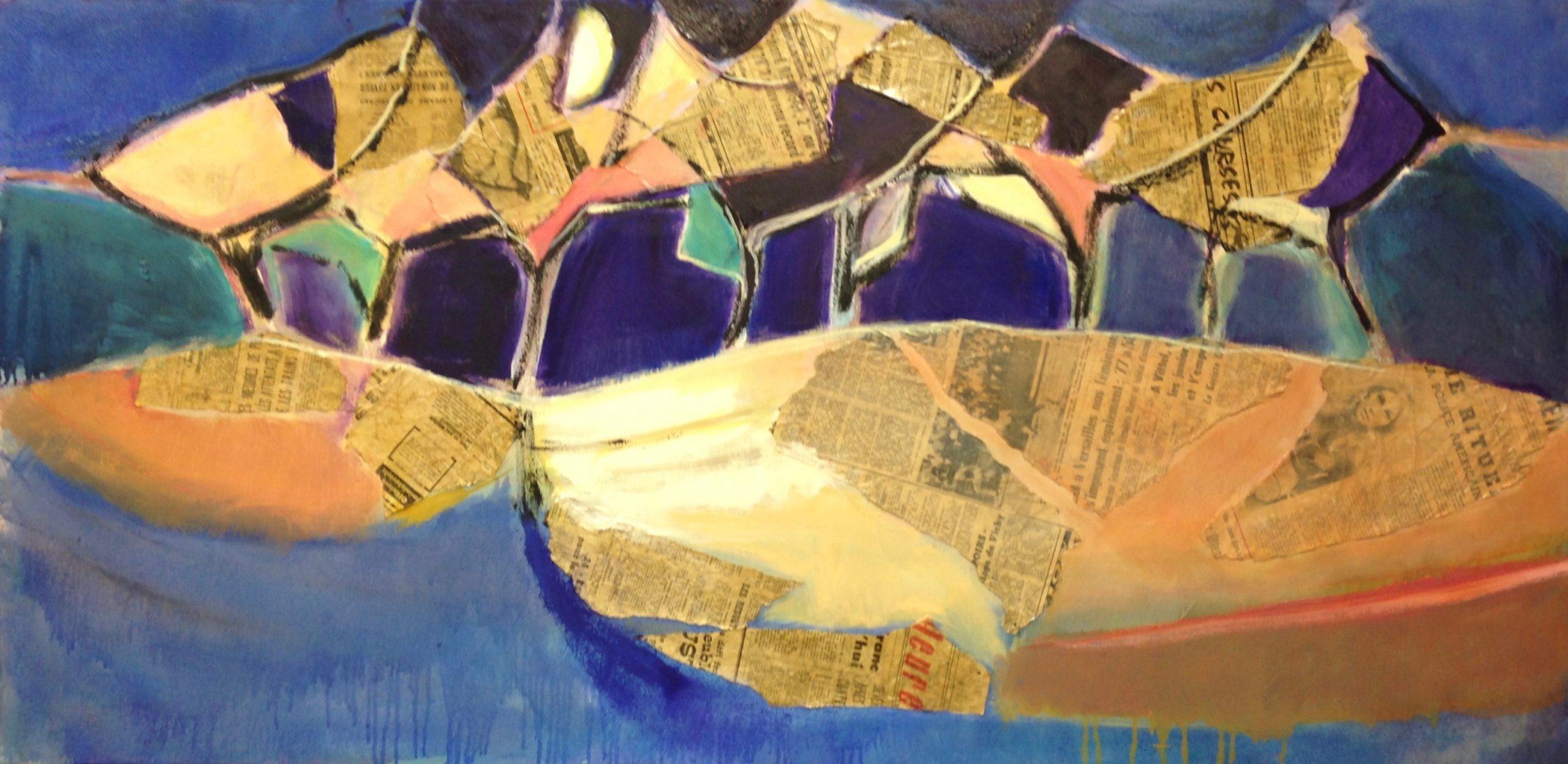 Pommiers, nuit Pippa Spiers 60 x 120 cm, oil on canvas