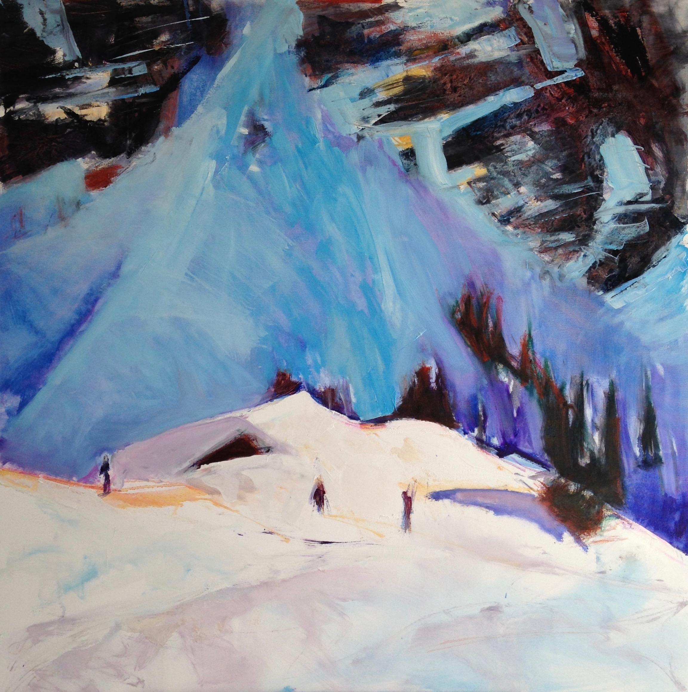 Après midi au Souay' Pippa Spiers 100 x 100 cm, oil on canvas
