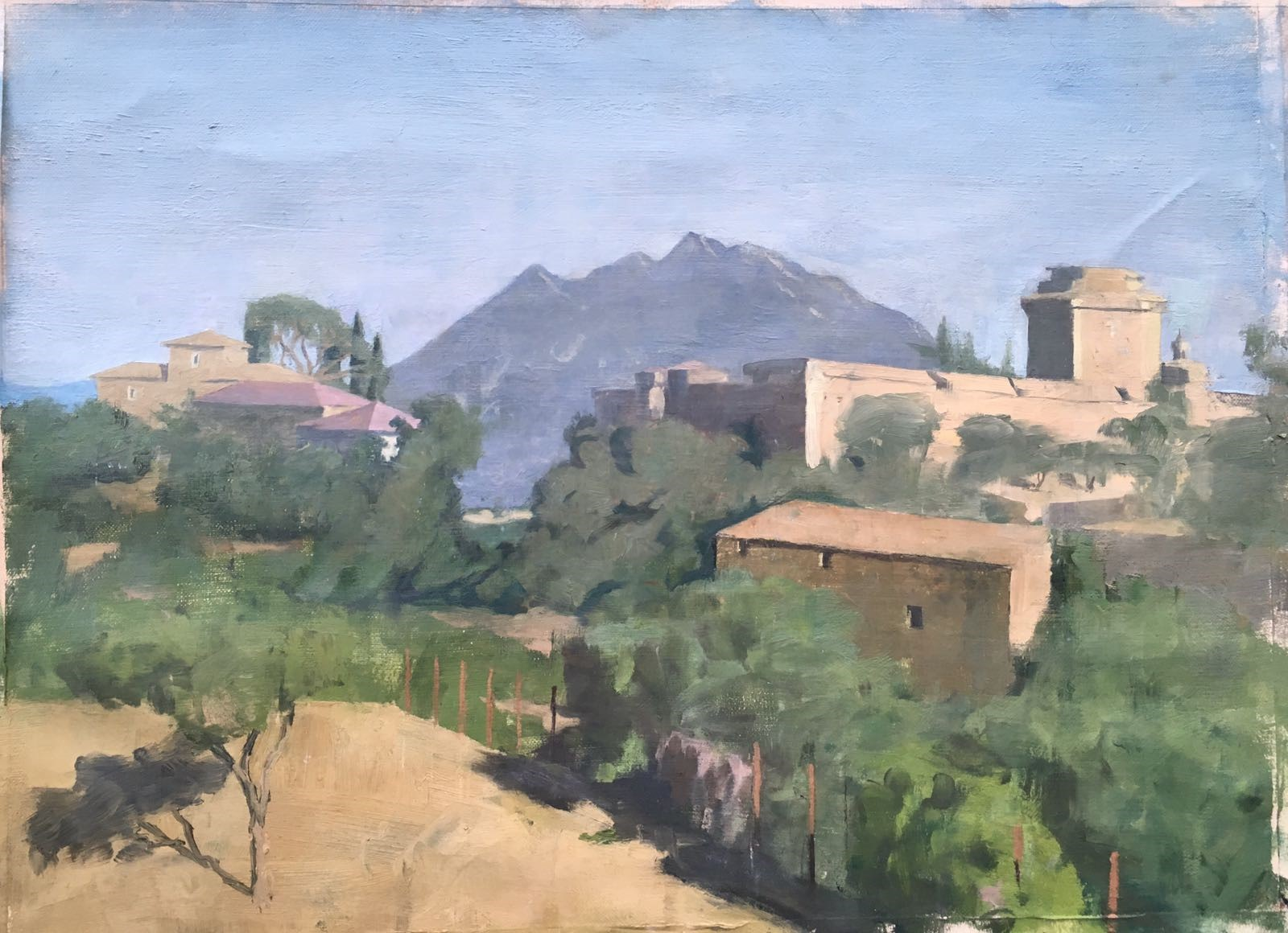 Monte Soratte Sam Rachamin Oil on linen mounted on wood 43 x 63 cm