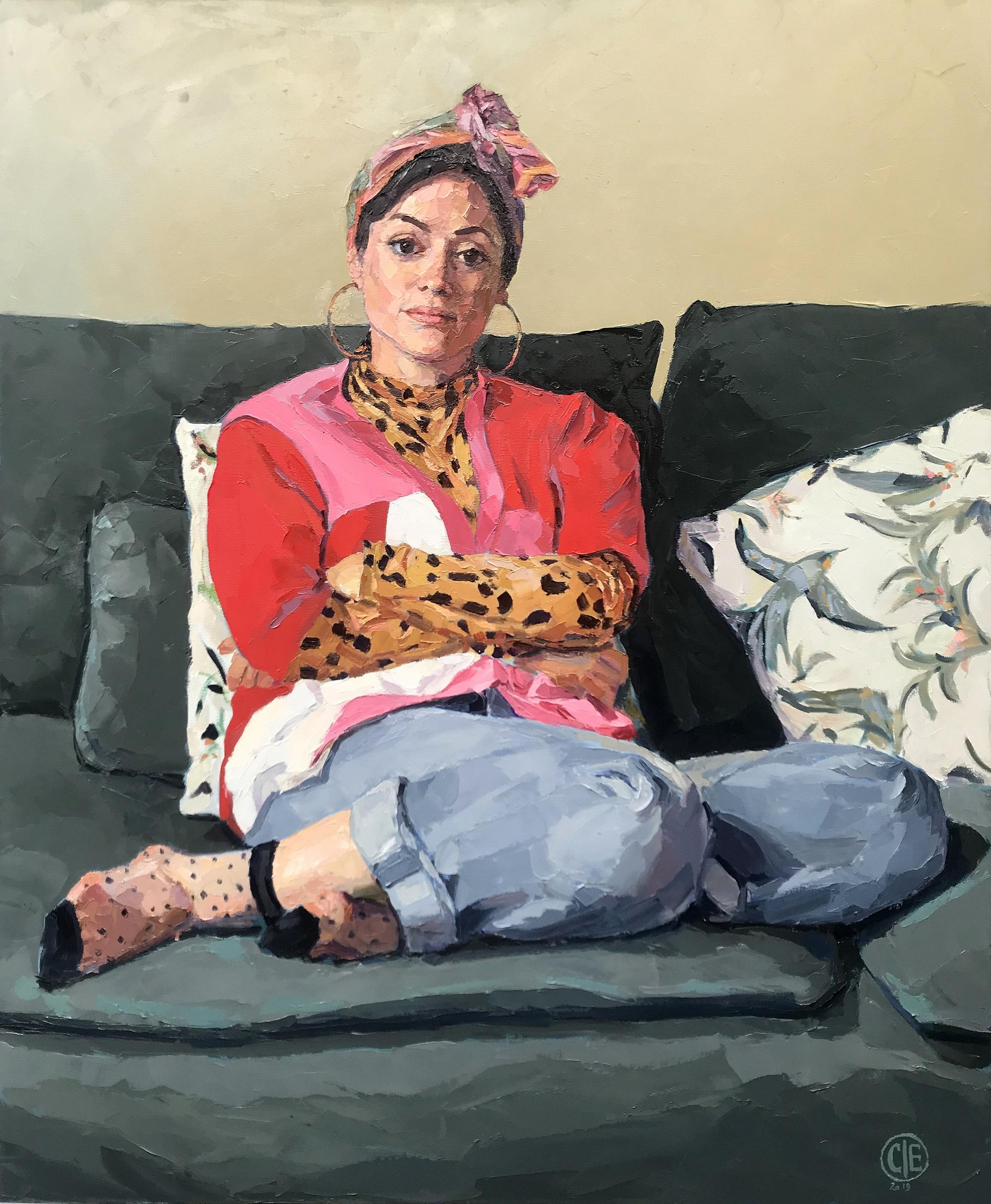 Sabrina Mahfouz Clae Eastgate Oil on canvas, 30 x 36 in.