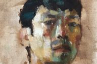 Self Portrait, 2019 Jonathan Chan Oil on canvas, 8 x 8 in (1 hour study)