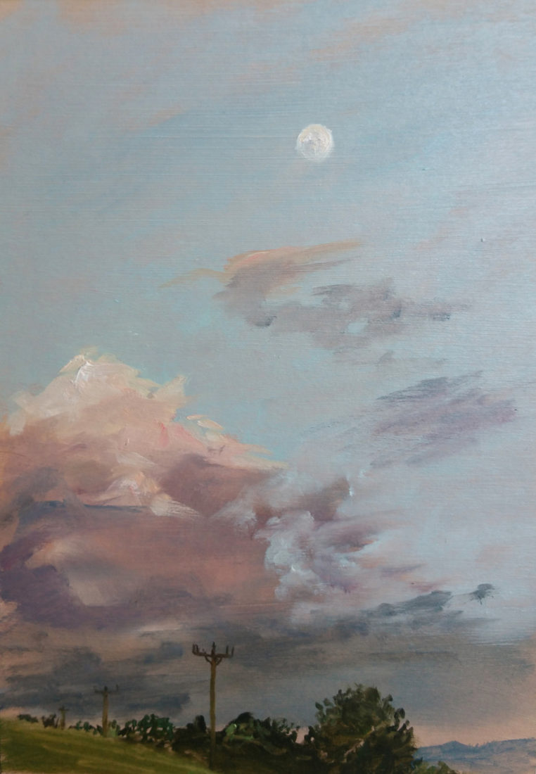Moon study, Painting by Tess Gray