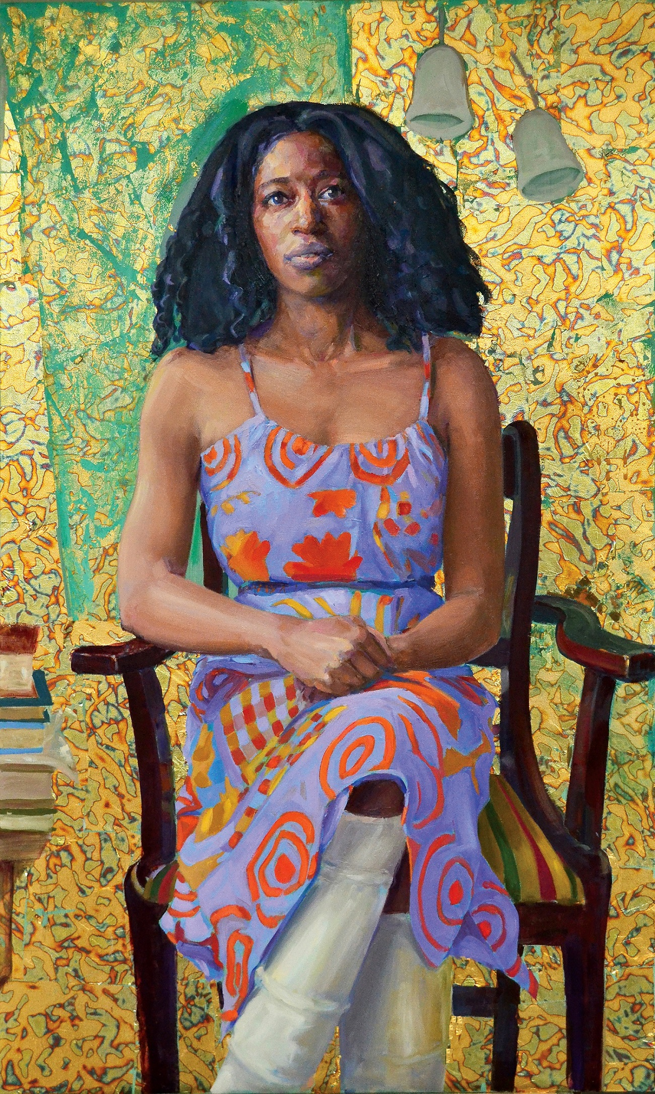 Victoria Adukwei Bulley Clae Eastgate Oil & mixed media on canvas, 24 x 40 in.