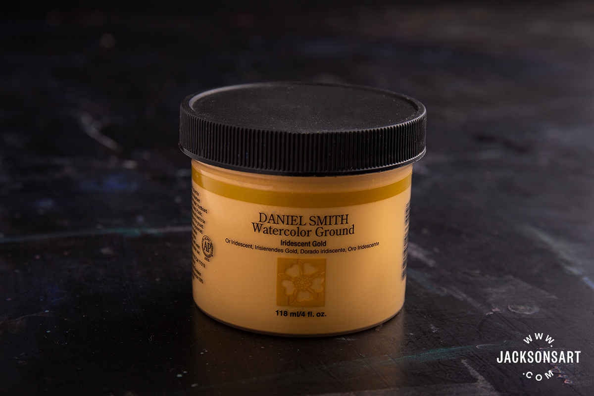 118ml pot of Daniel Smith Watercolour Ground in Iridescent Gold