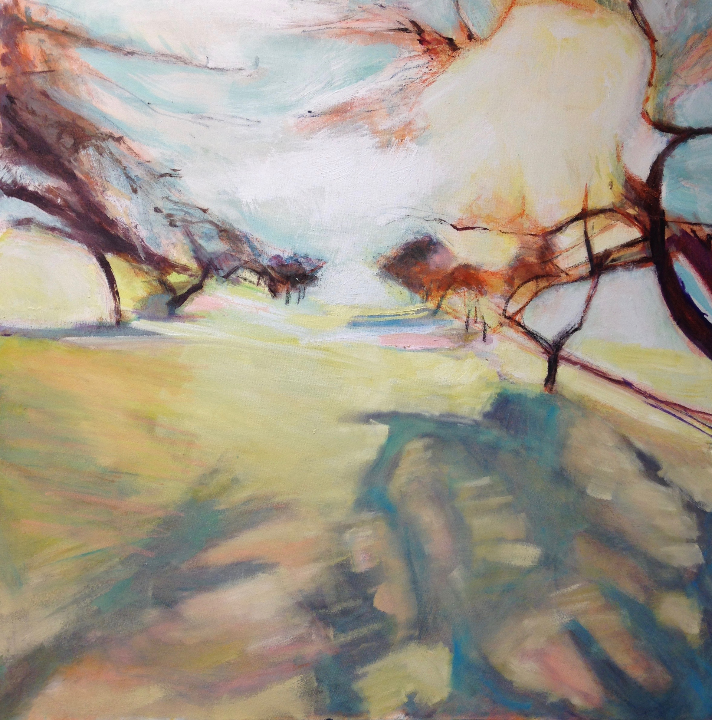 Matin froid Pippa Spiers 90 x 90cm, oil on canvas